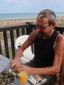 Thierry na našem balkónku...