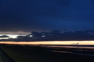 Večerní nebe v Cabourgu