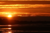Západ slunce v Cabourgu