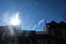 Slunce ještě hodně nízko